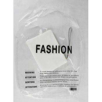 FASHION Shopper transparent bag Giuliano (Large)