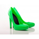 True Green Stiletto High Heels - Jelly Shoes