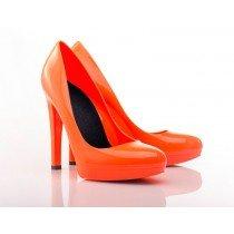 Fluo Orange Stiletto High Heels