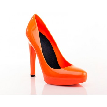 Fluo Orange Stiletto High Heels