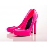 Hot Pink Stiletto High Heels - Jelly Shoes