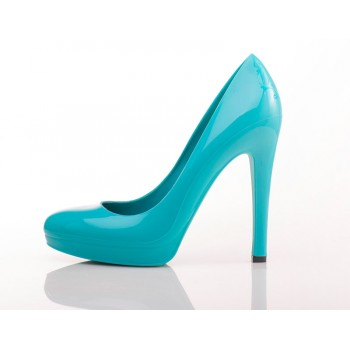 Aqua Blue Stiletto High Heels - Jelly Shoes