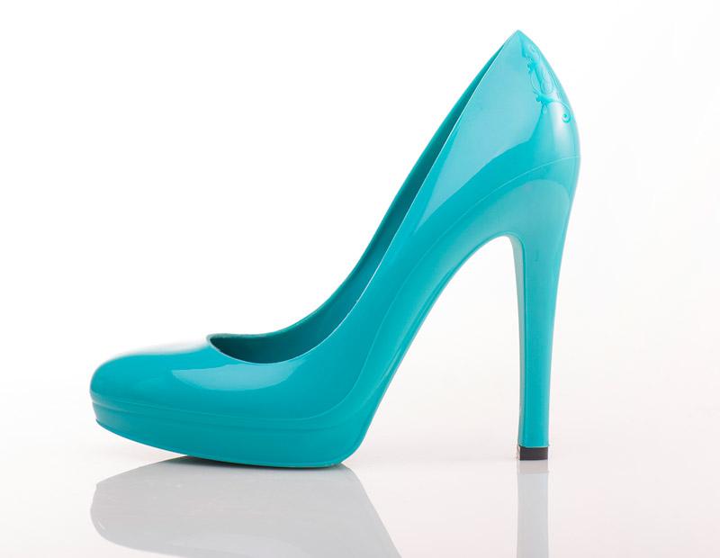 Aqua Blue Heels with All Swarovski Crystal by WickedAddiction
