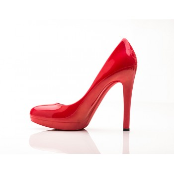 Empress Red Stiletto High Heels - Jelly Shoes
