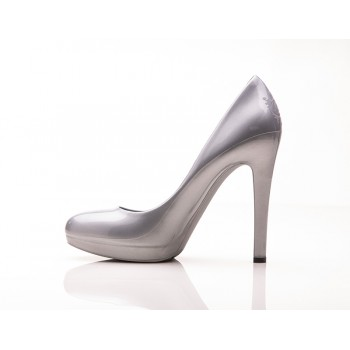 Lady Greystone Stiletto High Heels (Silver Metallic) - Jelly Shoes